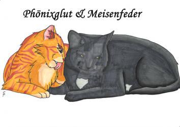 Phoenixblaze and Titfeather