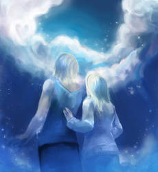 Blue skies by aurastiina