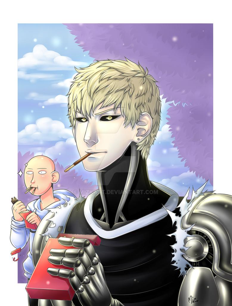 Saitama and Genos by Mizkatt