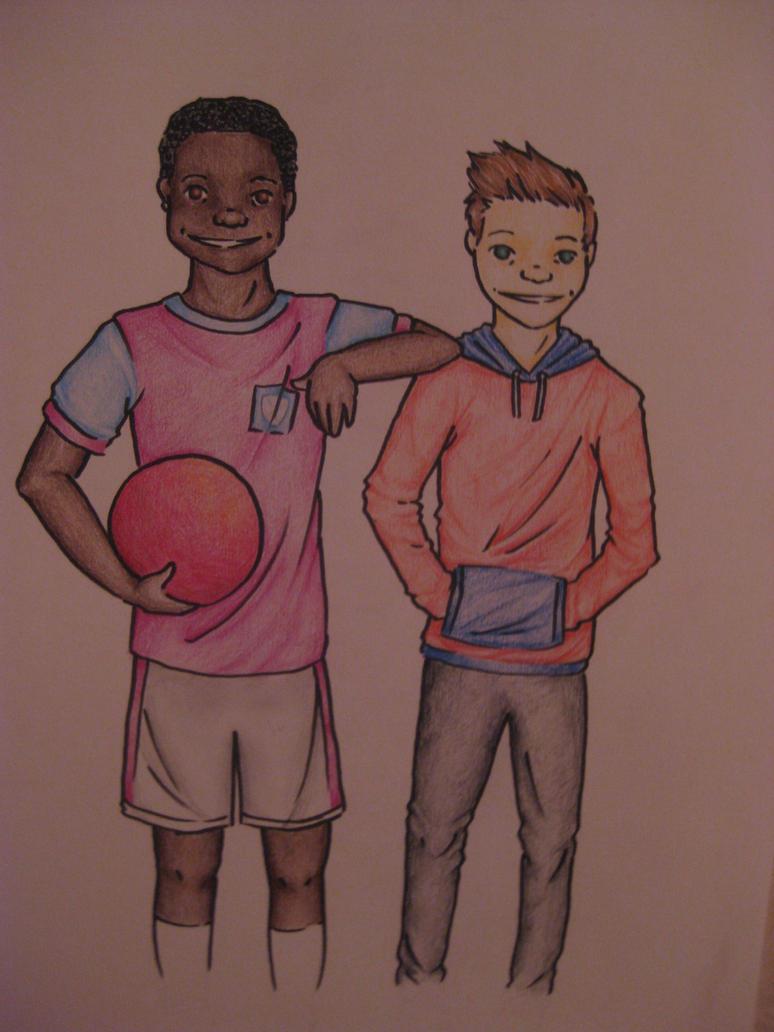 Mates. Dean and Seamus by BeckettSimpleton