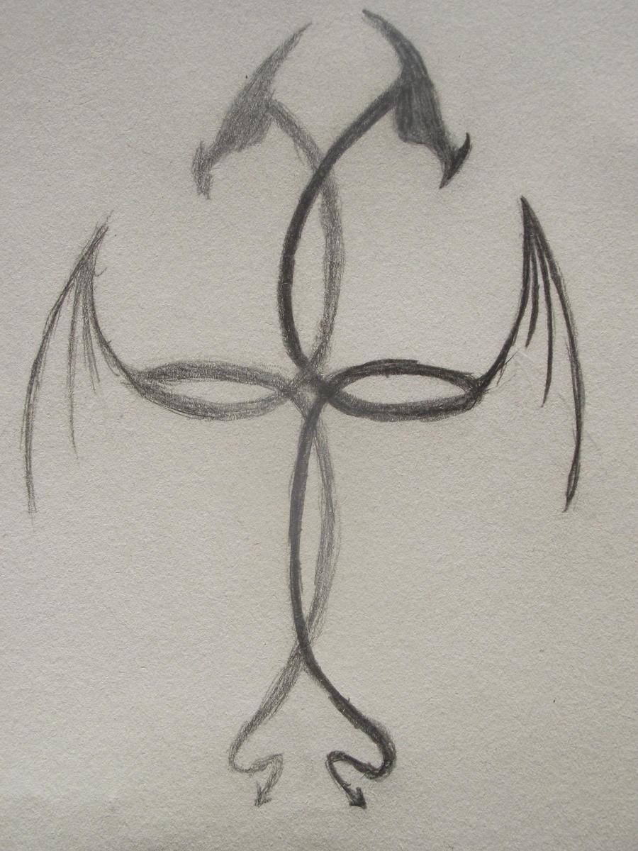dragon cross tattoo by dragonjsp on deviantart. Black Bedroom Furniture Sets. Home Design Ideas