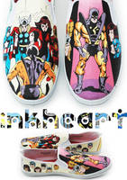 avengers custom painted shoes by felixartistixcouk