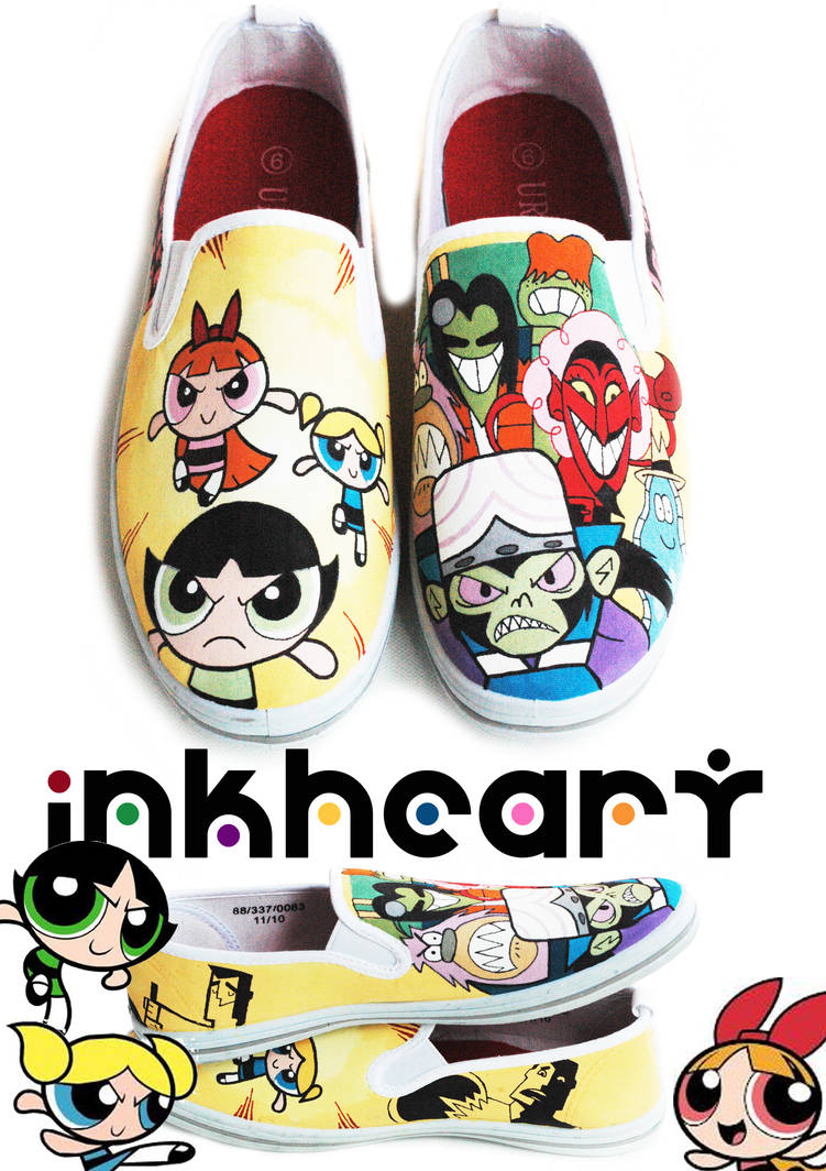 1c0d02d3a7f89 powerpuff girls custom shoes by felixartistixcouk on DeviantArt