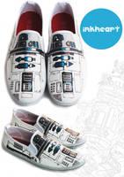 R2D2 custom shoes star wars by felixartistixcouk
