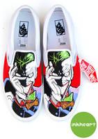 Joker Custom Vans by felixartistixcouk