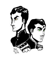 Inktober 24 ~ Mako and Bolin