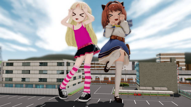 MMD Giantess Lively Duo