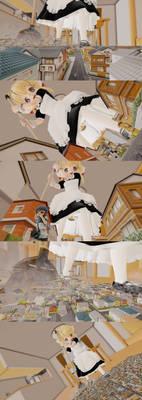 MMD Giantess Maid Konko