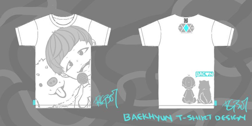 BYUN BAEKHYUN Shirt design by rahaina