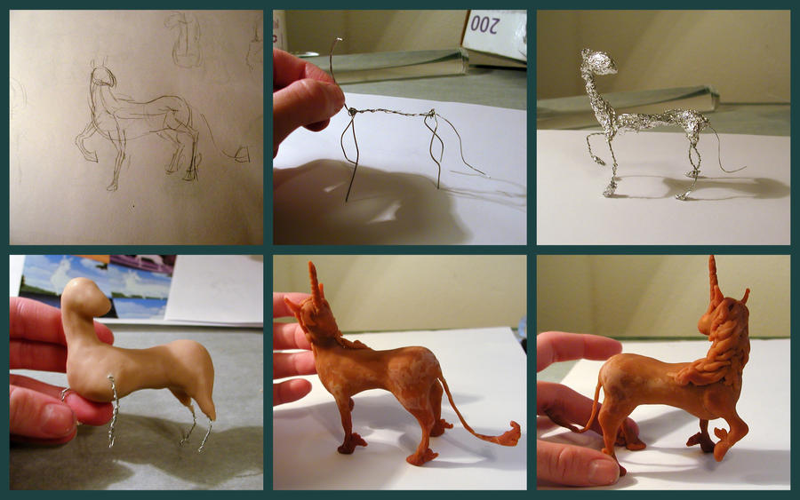 Last Unicorn Figure WIP by LeiliaK