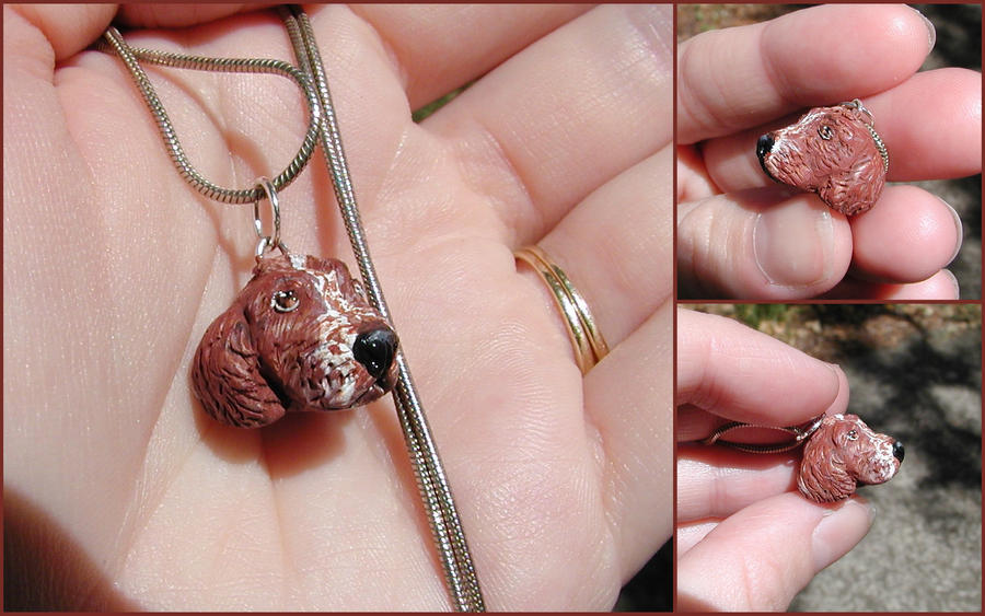 Welsh Springer Necklace by LeiliaClay