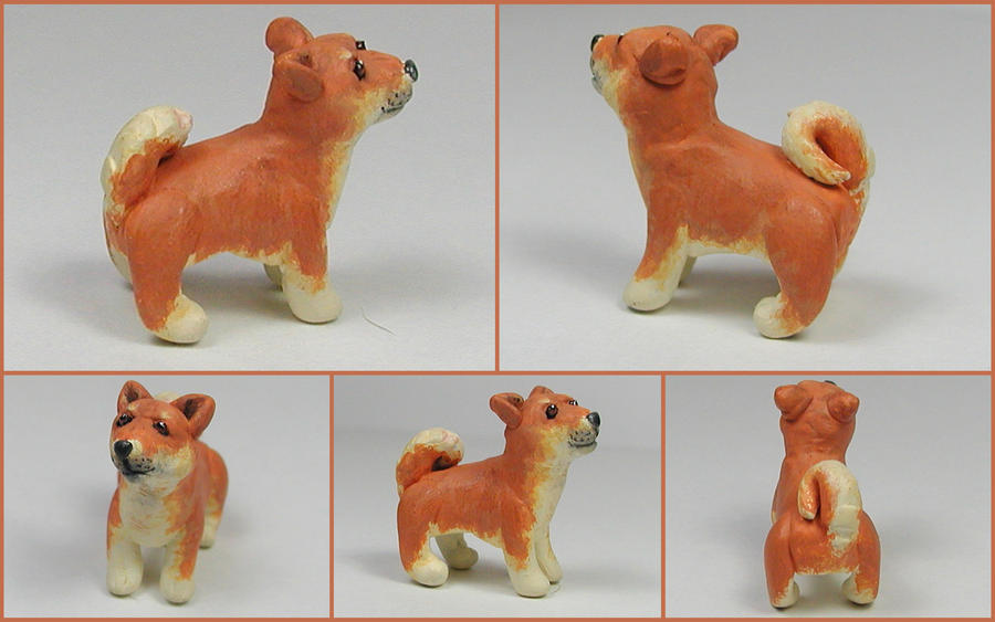 Little Shiba Inu Sculpture by LeiliaK