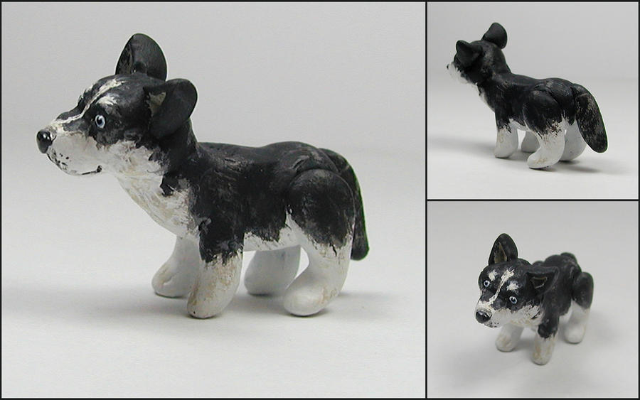 Little Husky Sculpture by LeiliaK