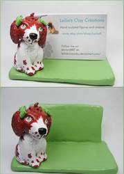 Welshie Business Card Holder by LeiliaClay