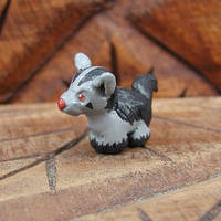 Mini Mightyena Sculpture by LeiliaClay
