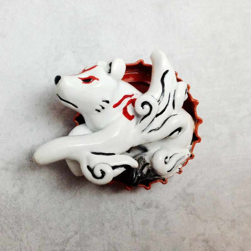 Amaterasu Bottle Cap Sculpture by LeiliaK