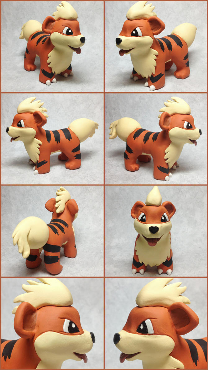 Growlithe Sculpture by LeiliaK