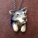 Grey Wolf Pop-Out Necklace