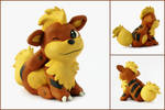 Itchy Growlithe Sculpture