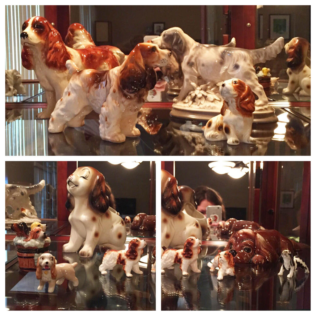 Vintage Spaniel Collection by LeiliaClay