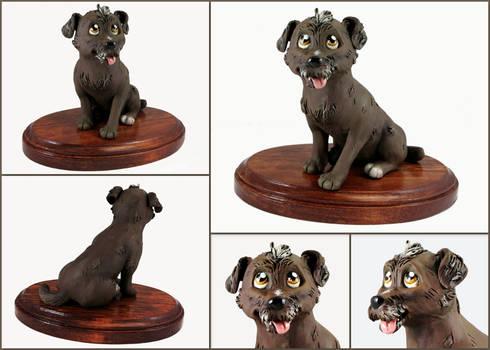 Angel the Terrier Mix Sculpture