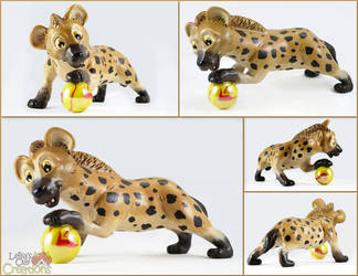 Hyena Pup with Marble