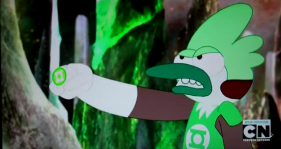 Mordecai is green lantern xDD by LittleThingsCxD