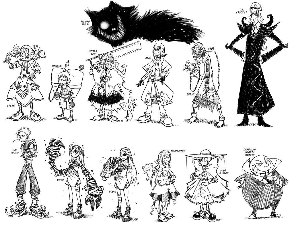 EverAfter Doodles by BechnoKid