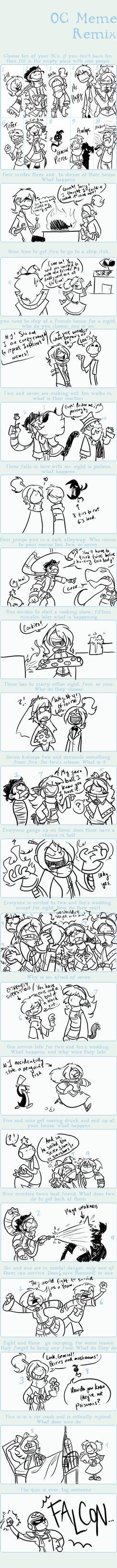 Crazy OC Meme....Thing...Yes. by BechnoKid