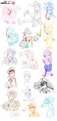 More Human Wall-E Doodles by BechnoKid
