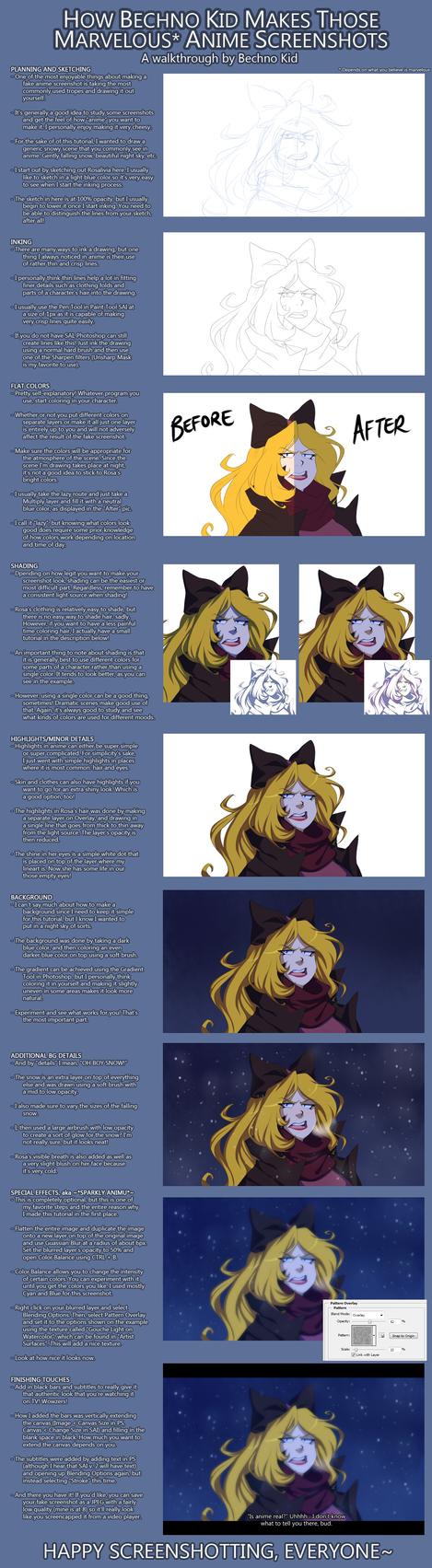 Anime Screenshot Tutorial [REMAKE] by BechnoKid