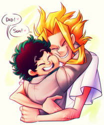 BNHA: Plus Ultra Dad and Son