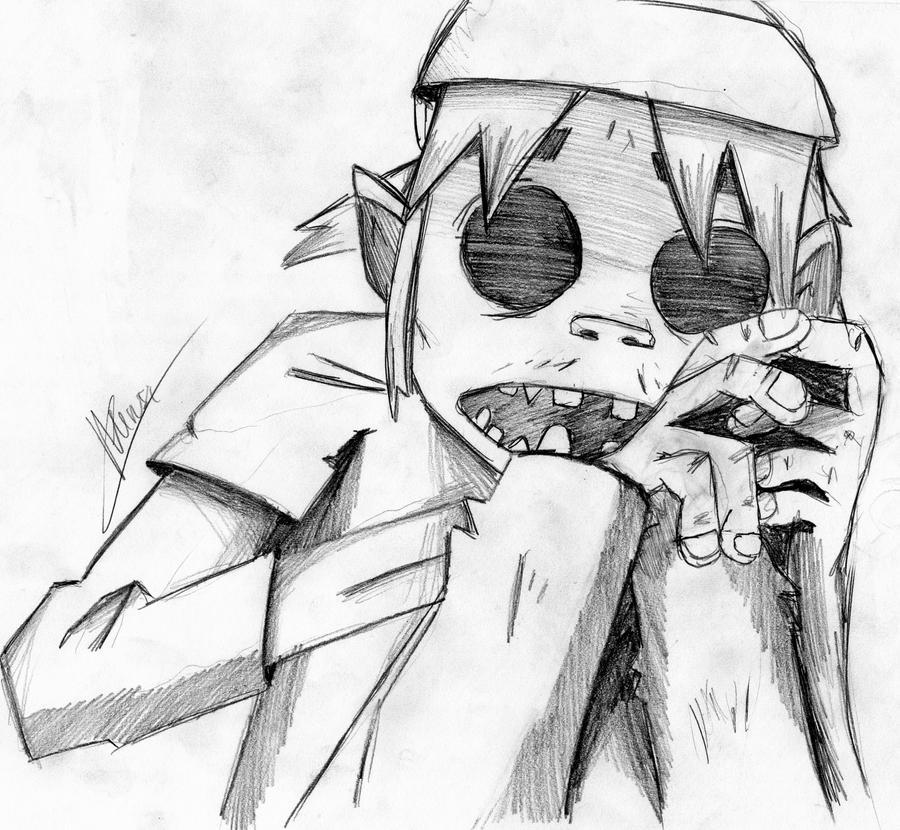 how to draw 2d gorillaz
