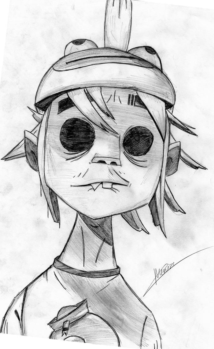 how to draw gorillaz characters