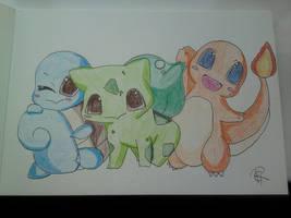 chibi pokemon coloured by Colorful-Kaiya