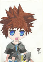 Chibi Sora chilling by Colorful-Kaiya