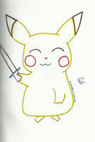 A.R Pikachu with a sword by Colorful-Kaiya