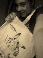 Me with pikachu bag by Colorful-Kaiya