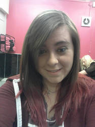 So i have pink/purple in my hair now! :D by Colorful-Kaiya