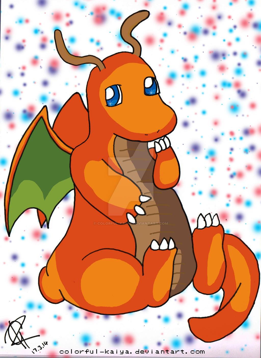 Dragonite #149 by Colorful-Kaiya