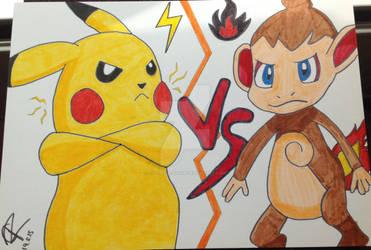 3rd place prize! - Pikachu Vs. Chimchar!