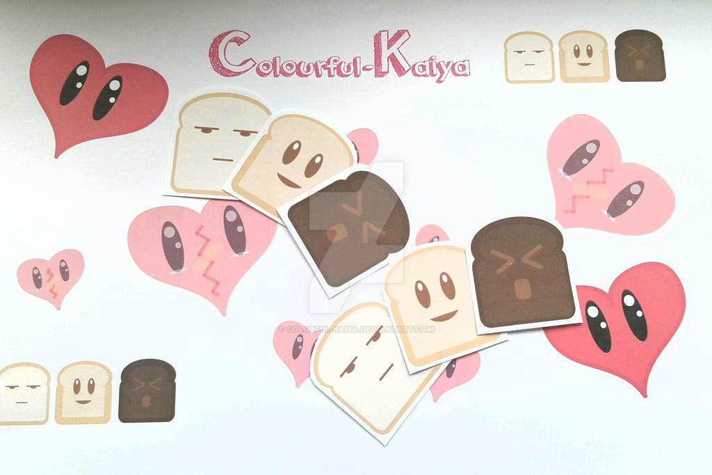 Toastie Stickers by Colorful-Kaiya