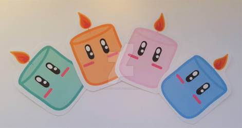 Kawaii Candle stickers!