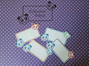Panda labels!