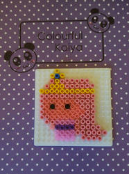 princess bubblegum Hama by Colorful-Kaiya