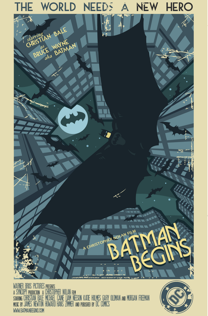 Batman Begins Movie Poster by Onizzuka