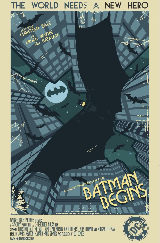 batman begins movie poster by onizzuka on deviantart. Black Bedroom Furniture Sets. Home Design Ideas