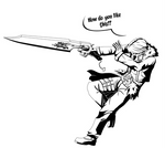 Dissidia Squall - Lineart