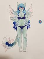 MYO Gallinishee: Opal by LadyDragonKia