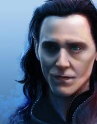 Loki portrait [colored] by eeurekaep